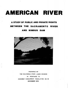 Cover of the 1978 report on the American river