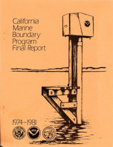 Cover of the California Marine Boundary Program – Final Report 1974-81