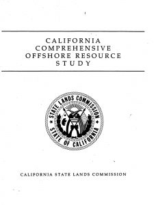 Cover of the 1991 California Comprehensive Offshore Resources Study