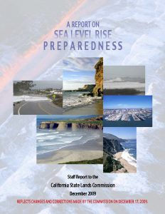 Cover of 2009 SEA LEVEL RISE Report