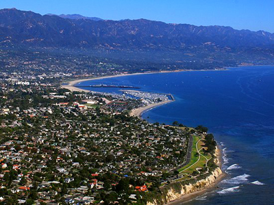 Aerial photo of Santa Barbara By John Wiley User:Jw4nvc - Santa Barbara, California (Own work) [CC BY 3.0 (http://creativecommons.org/licenses/by/3.0)], via Wikimedia Commons