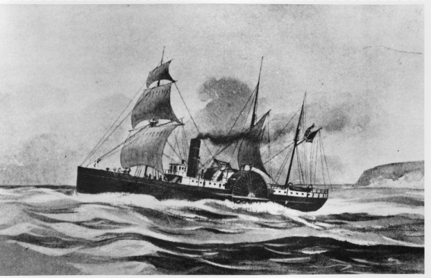 Drawing of the SS Brother Jonathan